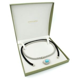 Judith Ripka Convertible Turquoise Necklace